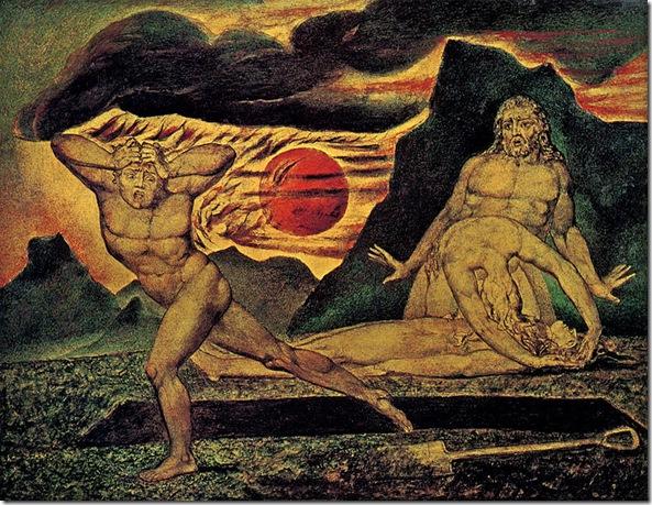 Abel y Caín - W. Blake